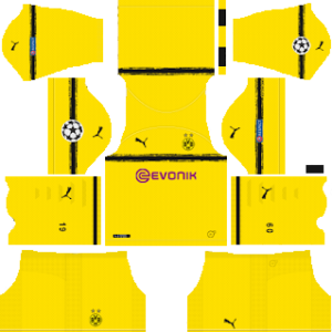 borussia dortmund ucl international kit 2018-2019 dream league soccer