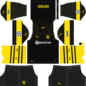 Borussia Dortmund UCL Kits 2018/2019 Dream League Soccer