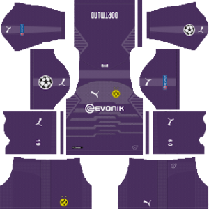 borussia dortmund ucl goalkeeper away kit 2018-2019 dream league soccer