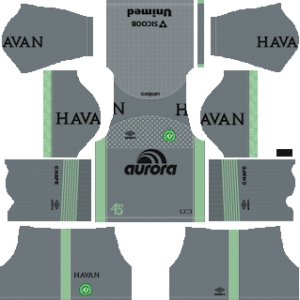 chapecoense fc goalkeeper away kit 2018-2019 dream league soccer