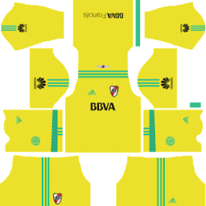 river plate goalkeeper away kit 2018-2019 dream league soccer