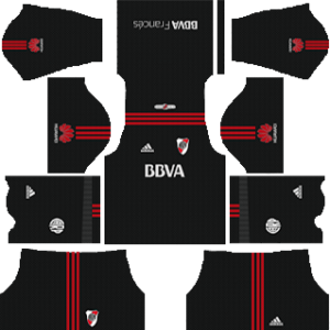 river plate goalkeeper third kit 2018-2019 dream league soccer