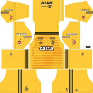 Flamengo goalkeeper home kit 2018-2019 dream league soccer