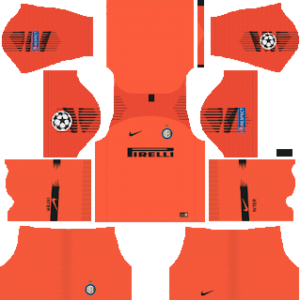 inter milan ucl goalkeeper home kit 2018-2019 dream league soccer
