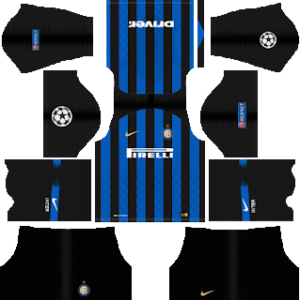 Inter Milan UCL Kits 2018/2019 Dream League Soccer