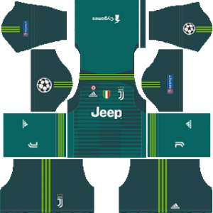 juventus ucl goalkeeper home kit 2018-2019 dream league soccer
