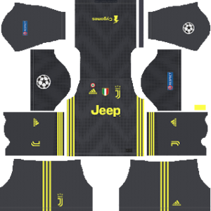 juventus ucl third kit 2018-2019 dream league soccer