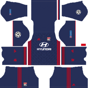 olympique lyon ucl away kit 2018-2019 dream league soccer