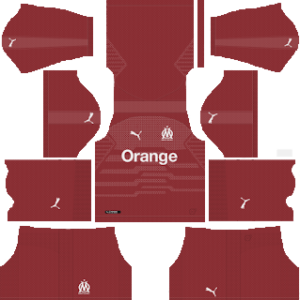 olympique marseille gooalkeeper home kit 2018-2019 dream league soccer