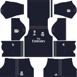 Real Madrid UEFA Winner Badge away Kit 2018/2019 Dream League Soccer