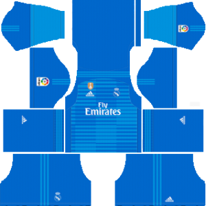 Real Madrid UEFA Winner Badge goalkeeper away kit 2018-2019 dream league soccer