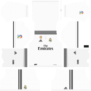 Real Madrid UEFA Winner Badge Kits 2018/2019 Dream League Soccer