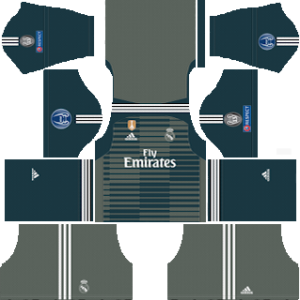 Real Madrid UEFA goalkeeper third kit 2018-2019 dream league soccer