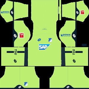 hoffenheim lotto goalkeeper home kit 2018-2019 dream league soccer