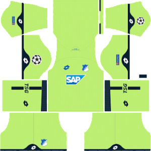 hoffenheim lotto ucl goalkeeper home kit 2018-2019 dream league soccer