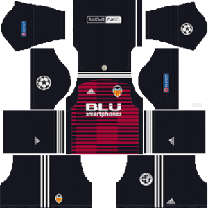 valencia ucl goalkeeper home kit 2018-2019 dream league soccer