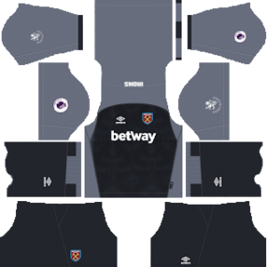 west ham united goalkeeper home kit 2018-2019 dream league soccer