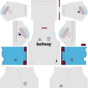 west ham united third kit 2018-2019 dream league soccer