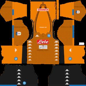 ssc napoli goalkeeper away kit 2018-2019 dream league soccer