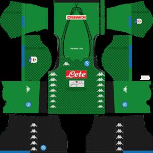 ssc napoli goalkeeper home kit 2018-2019 dream league soccer