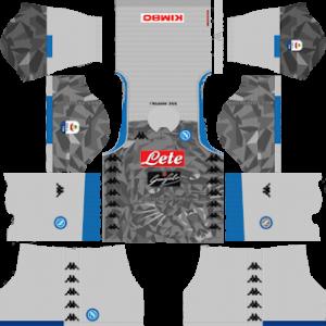 ssc napoli third kit 2018-2019 dream league soccer
