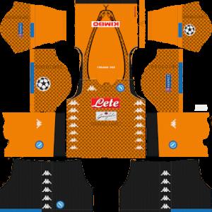ssc napoli ucl goalkeeper away kit 2018-2019 dream league soccer