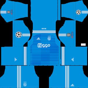AFC Ajax UCL goalkeeper home kit 2018-2019 dream league soccer