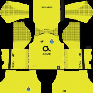 FC Porto goalkeeper away kit 2018-2019 dream league soccer