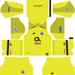 FC Porto ucl goalkeeper away kit 2018-2019 dream league soccer