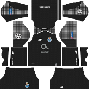 FC Porto ucl goalkeeper home kit 2018-2019 dream league soccer