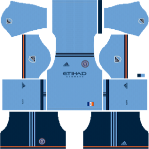 New York City FC Kits 2018/2019 Dream League Soccer