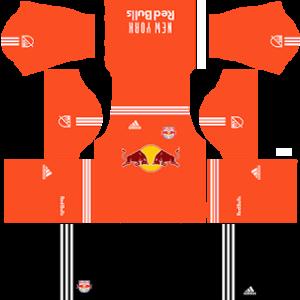 New York Red Bulls Goalkeeper away kit 2018-2019 dream league soccer