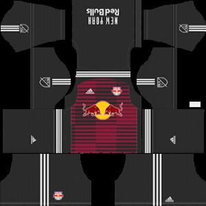 New York Red Bulls Goalkeeper home kit 2018-2019 dream league soccer