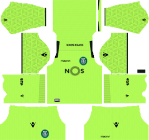Sporting CP goalkeeper away kit 2018-2019 dream league soccer