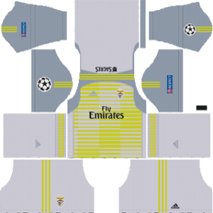 benfica ucl goalkeeper home kit 2018-2019 dream league soccer