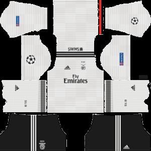 benfica away ucl kit 2018-2019 dream league soccer