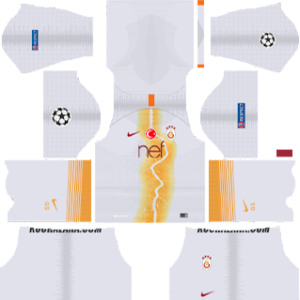 galatasaray ucl third kit 2018-2019 dream league soccer
