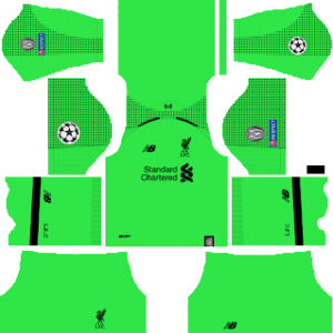 Liverpool ucl goalkeeper away kit 2019-2020 dream league soccer
