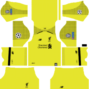 Liverpool ucl goalkeeper home kit 2019-2020 dream league soccer