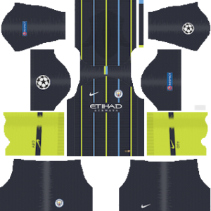 Manchester City ucl away kit 2019-2020 dream league soccer