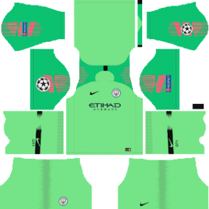 Manchester City ucl goalkeeper away kit 2019-2020 dream league soccer