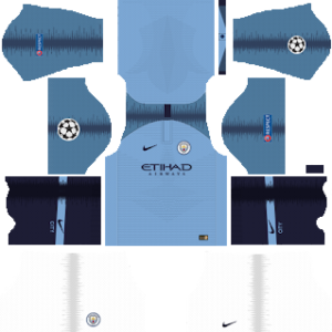 Manchester City UCL Kits 2019/2020 Dream League Soccer