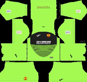 Selangor fa goalkeeper home kit 2019-2020 dream league soccer