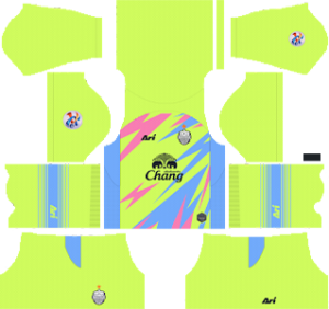 buriram united FC acl goalkeeper home kit 2019-2020 dream league soccer