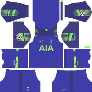Tottenham Hotspur goalkeeper home kit 2019-2020 dream league soccer