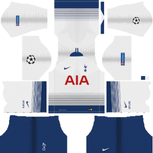 1d53d51f89c Tottenham Hotspur UCL Kits 2018/2019 Dream League Soccer