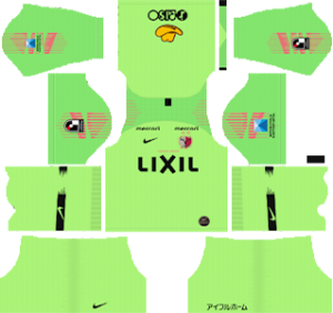 kashima antlers goalkeeper home kit 2019-2020 dream league soccer