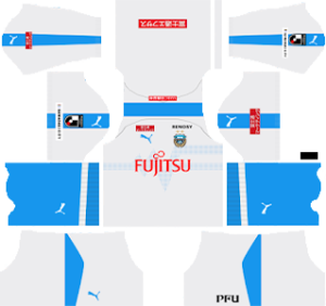 kawasaki frontale away kit 2019-2020 dream league soccer