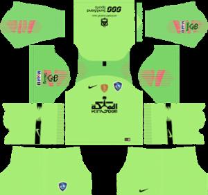 Al Hilal FC goalkeeper away kit 2019-2020 dream league soccer