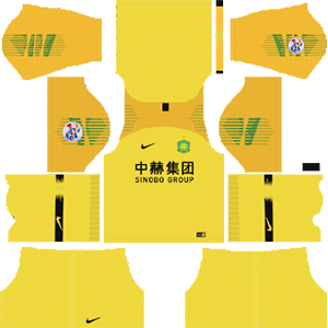 Beijing Sinobo Guoan FC acl goalkeeper away kit 2019-2020 dream league soccer